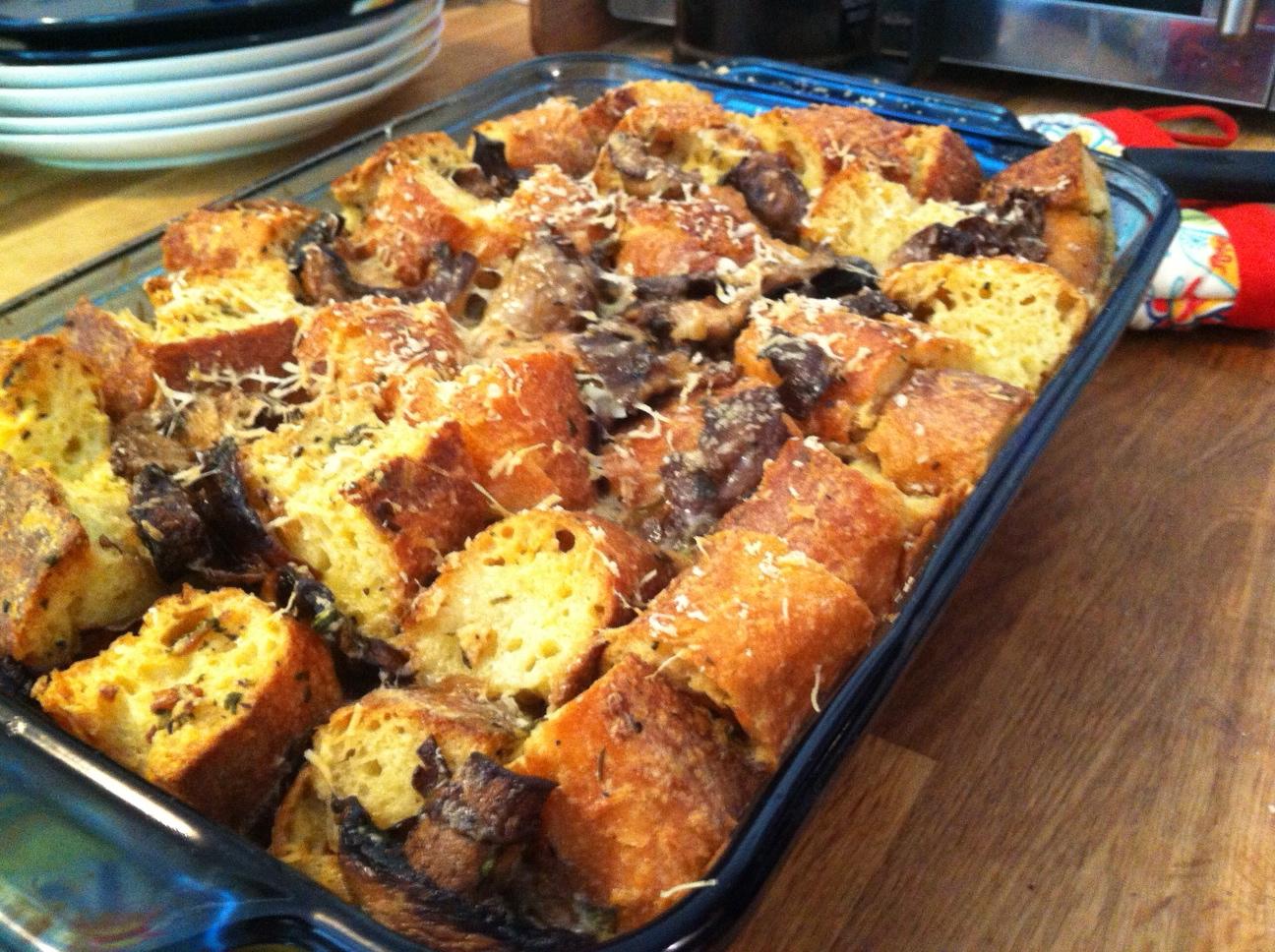 Wild Mushroom Bread Pudding – Modern Swap